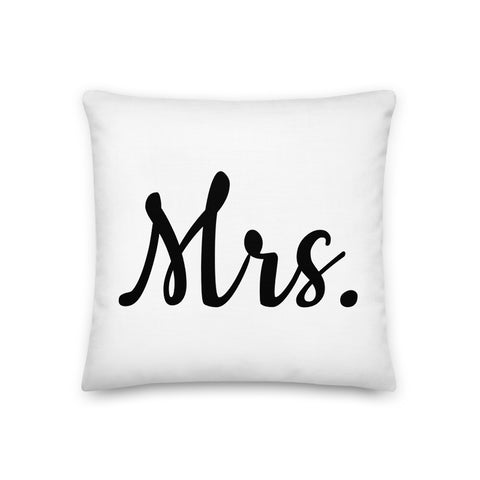 Mrs. Throw Pillow - Shabaca Designs