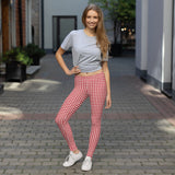 Red Gingham Leggings - Shabaca Designs