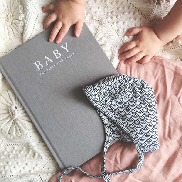Write To Me 'Baby Journal' Birth to 5 Years in Grey