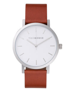 The Horse Original Tan Silver Timepiece