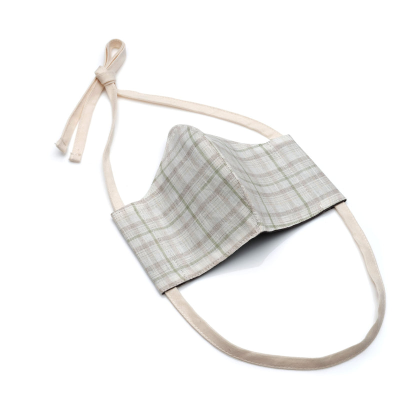 Face Mask in Plaid Linen