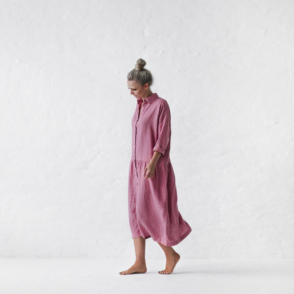 Seaside Tones Oversized Dress in Blossom Pink