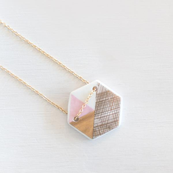 Buy LoveHate Porcelain Hex Necklace - at Quirk Collective Online