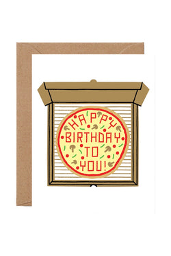 Wrap 'Birthday Pizza' Card
