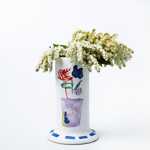 Jones and Co Jardin Tube Vase in Blue