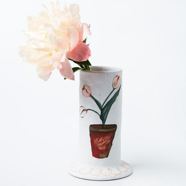Jones and Co Jardin Tube Vase in Pink