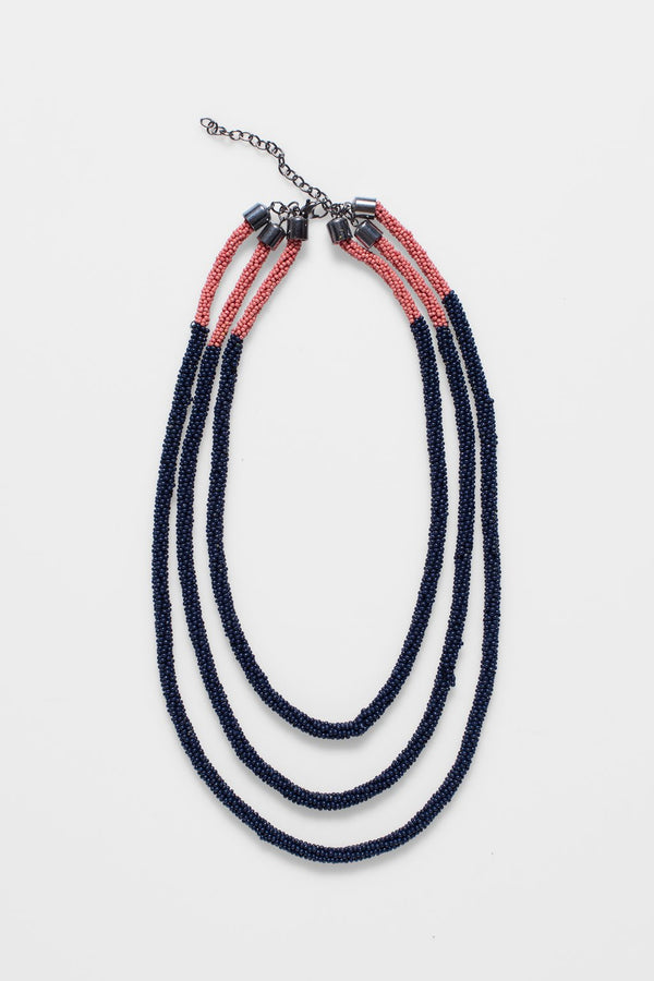 ELK Ettie Necklace in Navy + Roccoco