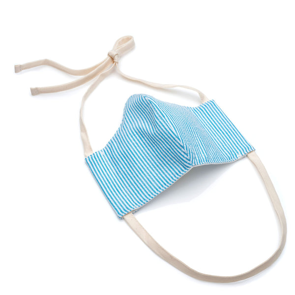 Face Mask in Turquoise Stripe