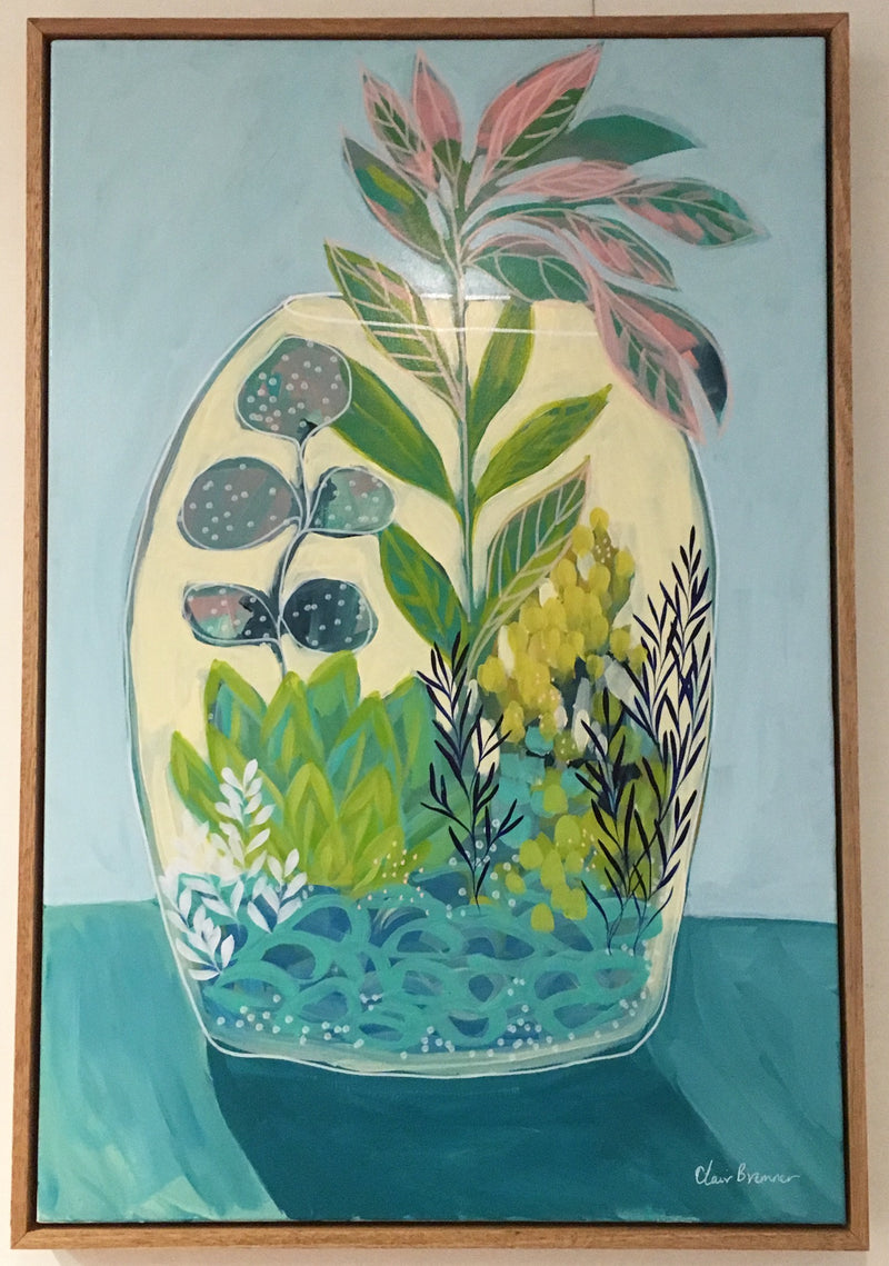 Clair Bremner 'Softly Waiting' Original Framed Artwork