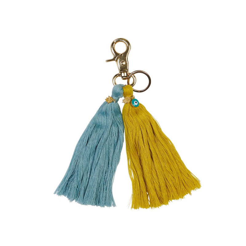 Sage x Clare Aicha Charm Key Ring in Lemon