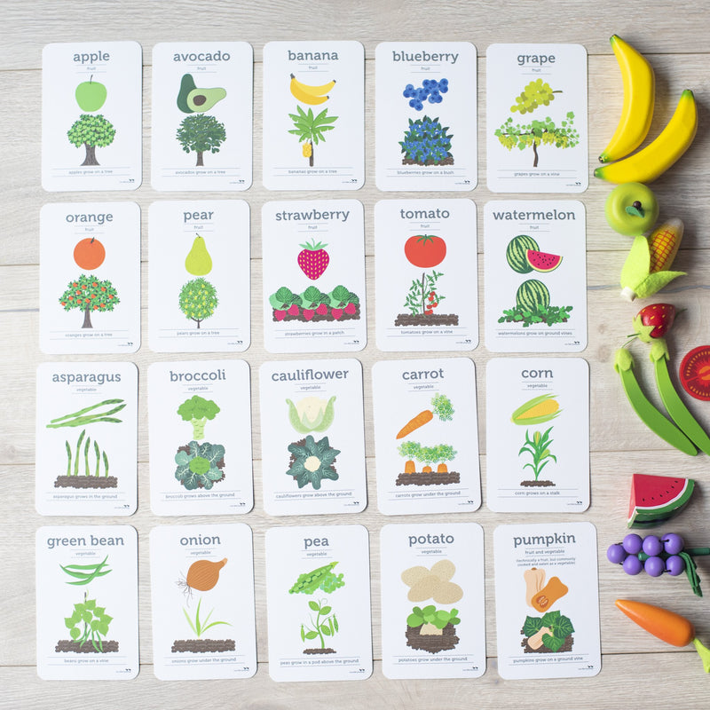 Two Little Ducklings 'Fruit & Vegetables' Flash Cards