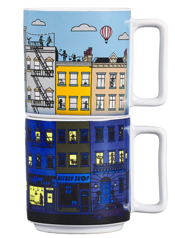 City Life Heat Changing Mugs