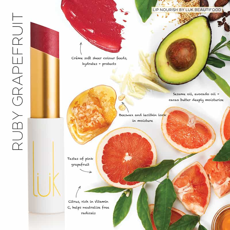 Luk Lipstick Nourish 'Ruby Grapefruit'