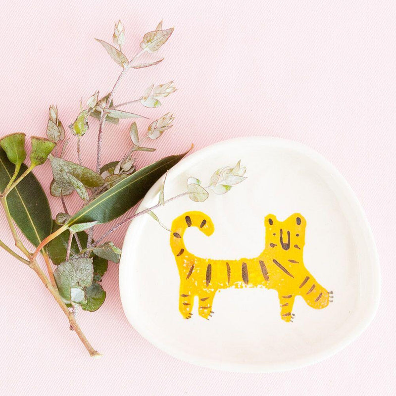 Buy Bea Bellingham 'Nimerah' Tiger Dishey Dish - at Quirk Collective Online