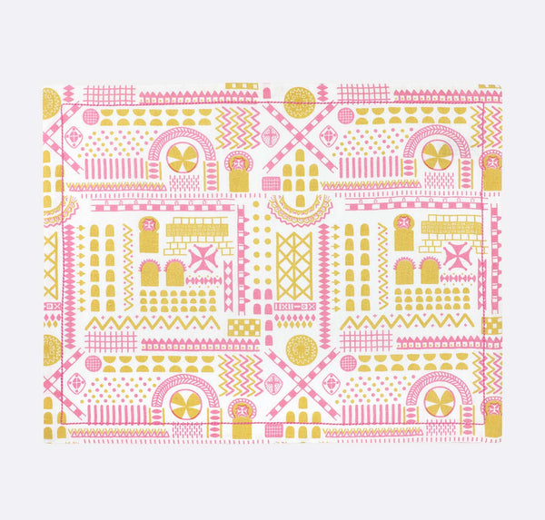 Buy Safomasi 'White Stone Symbol' Placemats - at Quirk Collective Online