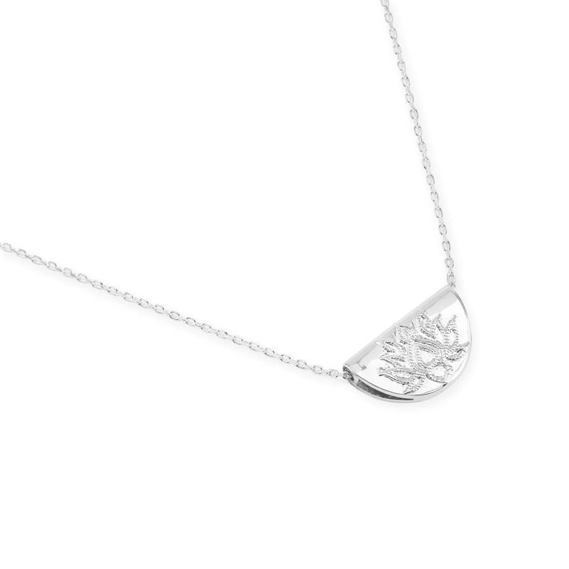 By Charlotte Silver Lotus Short Necklace