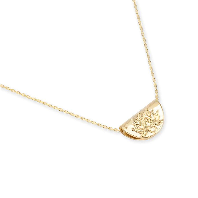 By Charlotte Short Lotus Necklace in Gold
