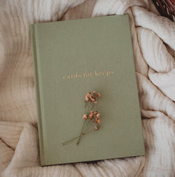 Write To Me 'Cards For Keeps' Journal in Sage