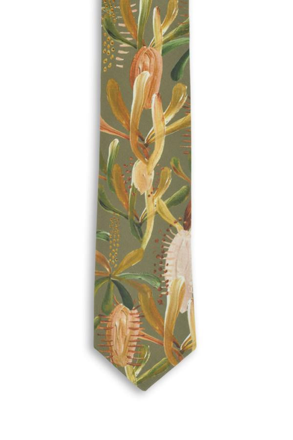 Peggy and Finn 'Grass Tree' Sage Tie