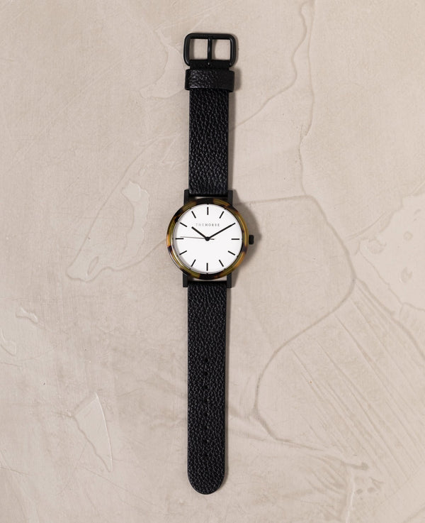 The Horse Resin Brown Tortoise Shell, White Face Timepiece