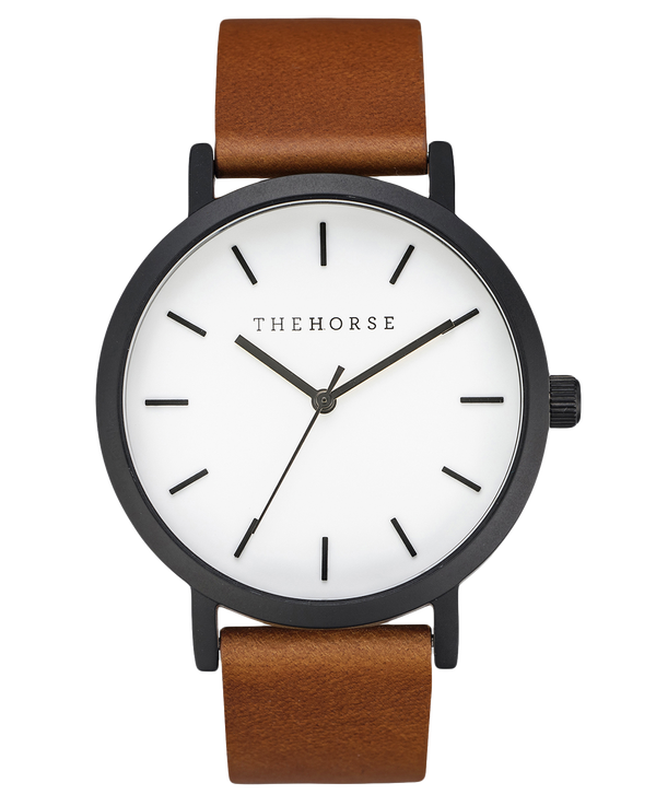 The Horse Original Tan Black and White Timepiece
