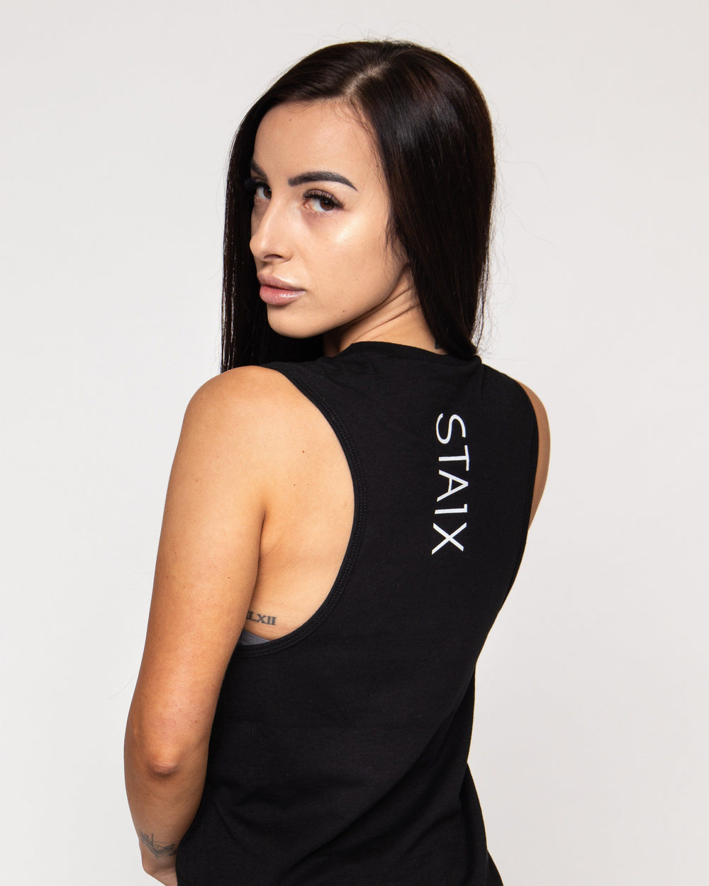 All Day Muscle Tank - Black WOMEN'S TANKS STAIX