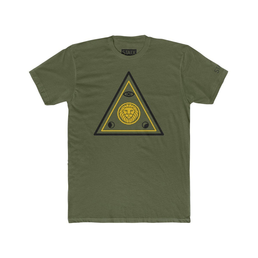 ASCENSION TEE T-Shirt Printify Solid Military Green S