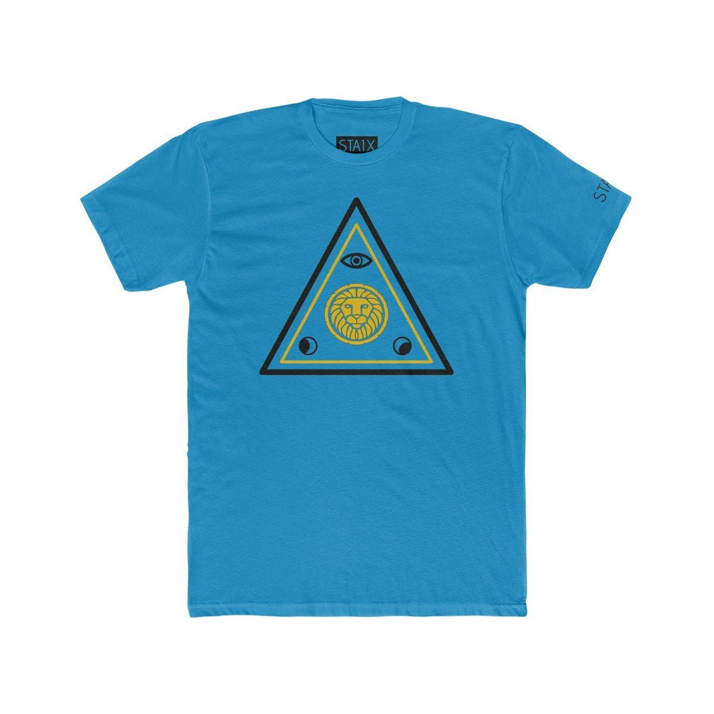 ASCENSION TEE T-Shirt Printify Solid Turquoise S