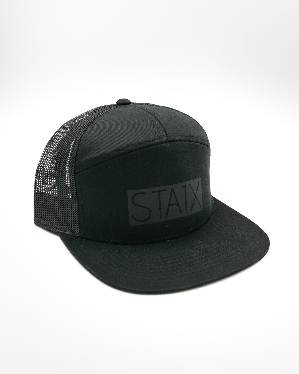 BOXER 7 PANEL - BLACK / BLACK HEADWEAR STAIX
