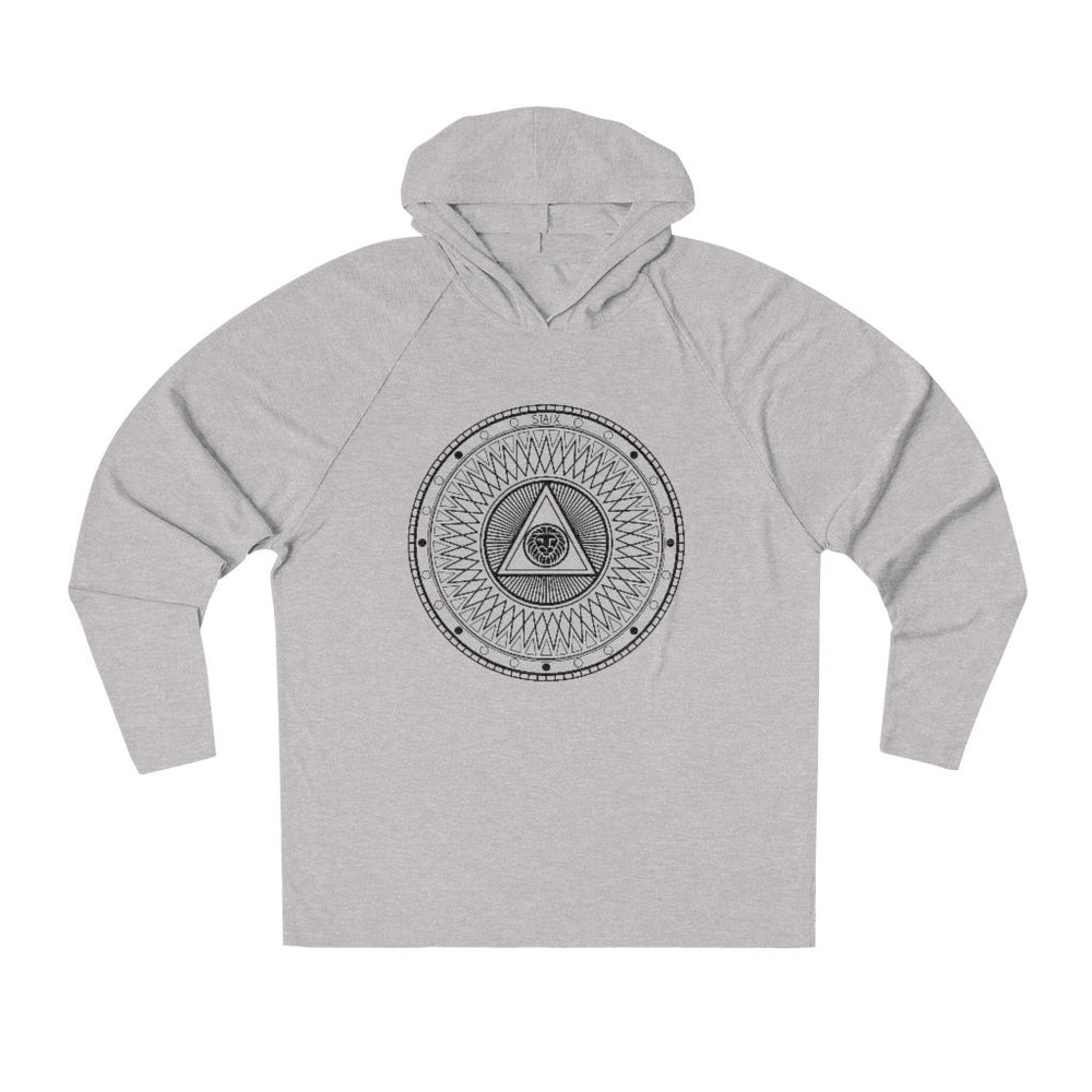 Compete Circle Tri-Blend Hoodie Hoodie Printify Athletic Heather S