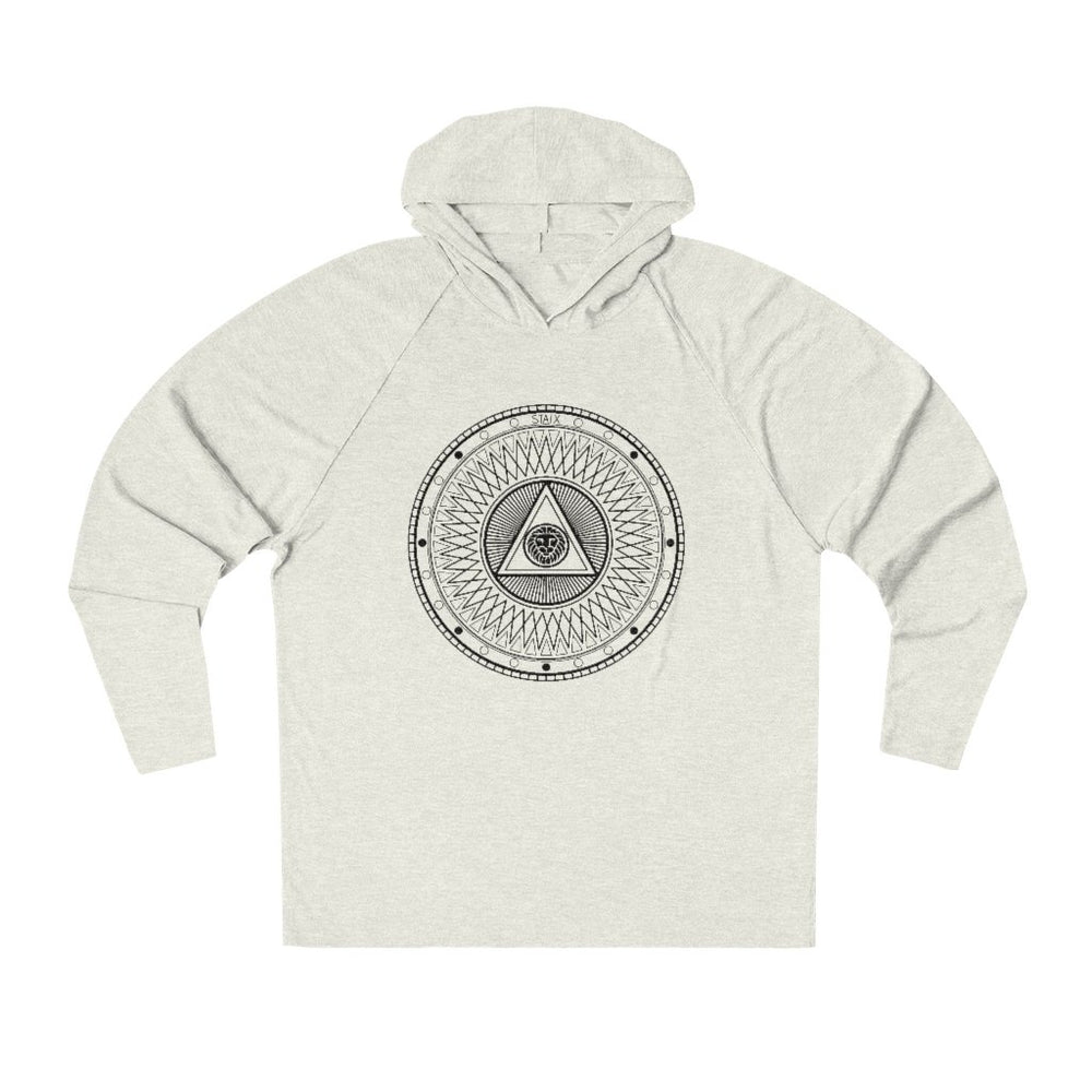 Compete Circle Tri-Blend Hoodie Hoodie Printify Oatmeal Heather S