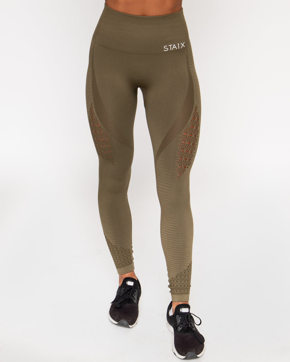Hyper Leggings - Olive Green STAIX S