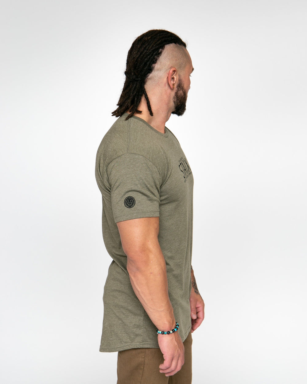 LIFESTYLE TEE - ARMY GREEN STAIX