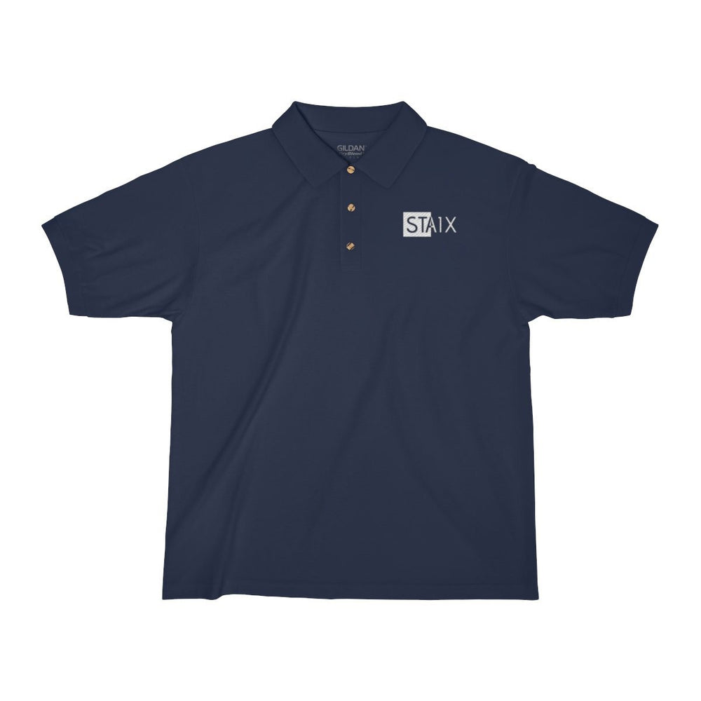 Men's Jersey Polo Shirt T-Shirt Printify Navy S