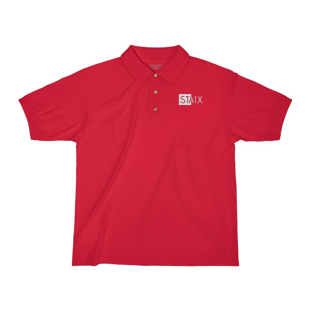 Men's Jersey Polo Shirt T-Shirt Printify Red S
