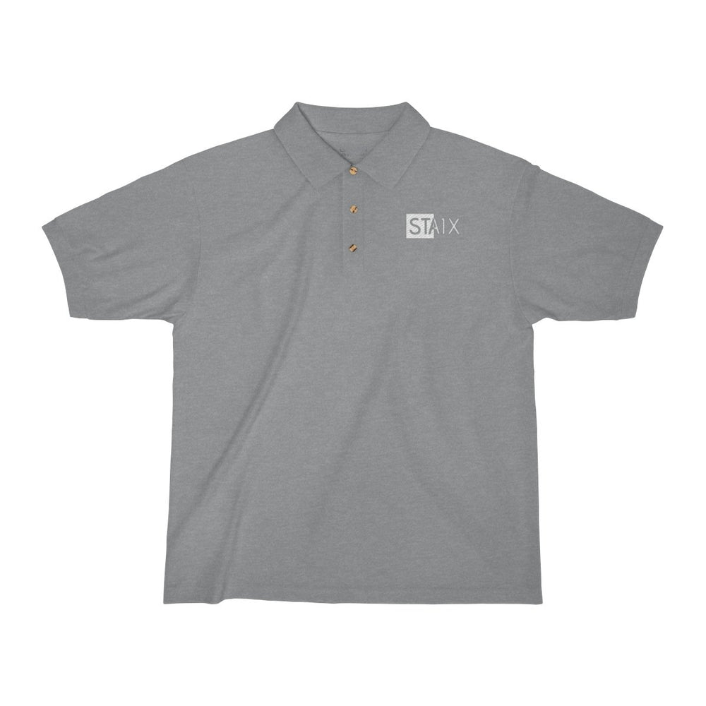Men's Jersey Polo Shirt T-Shirt Printify Sport Grey S