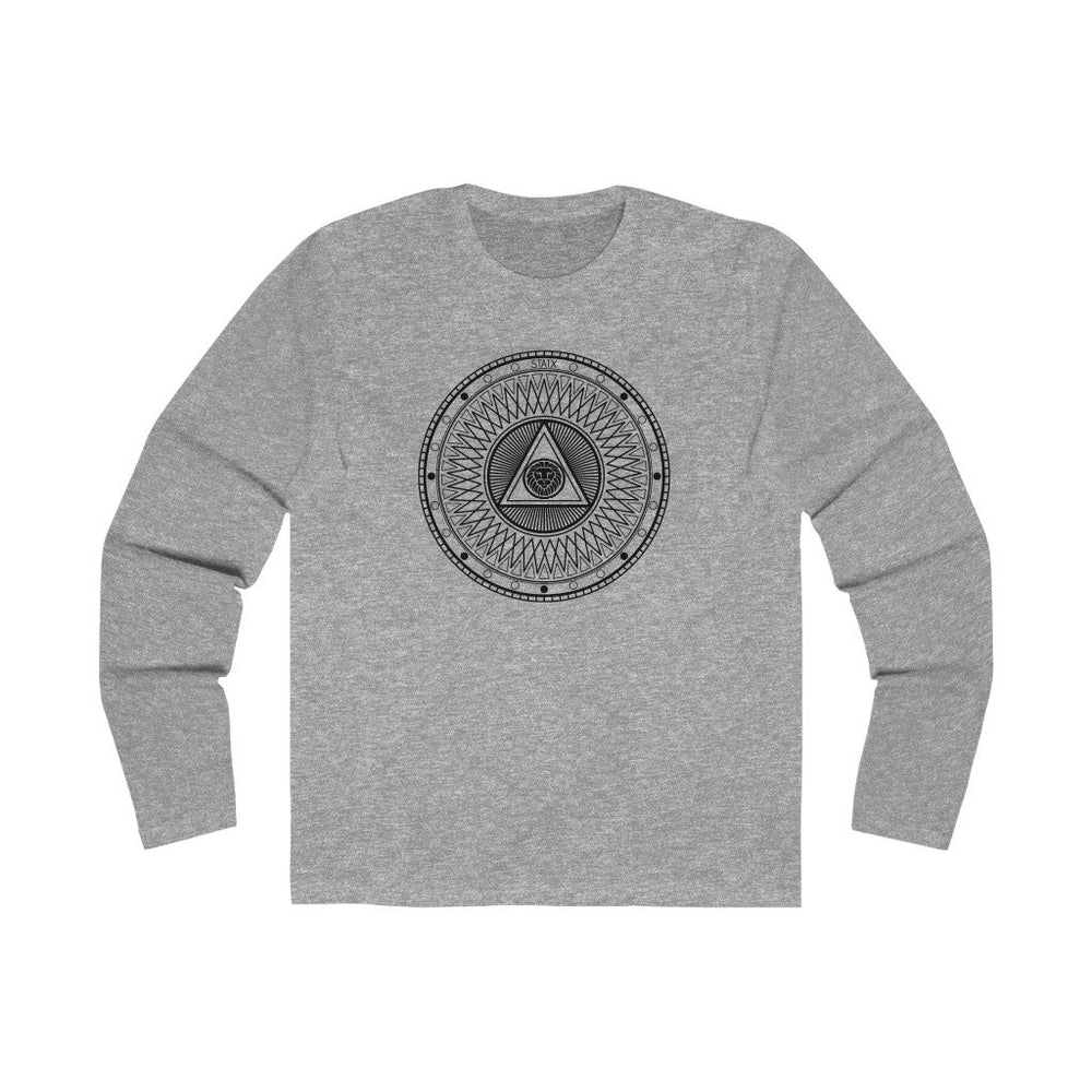 Men's Long Sleeve Crew Tee Long-sleeve Printify Solid Heather Grey S