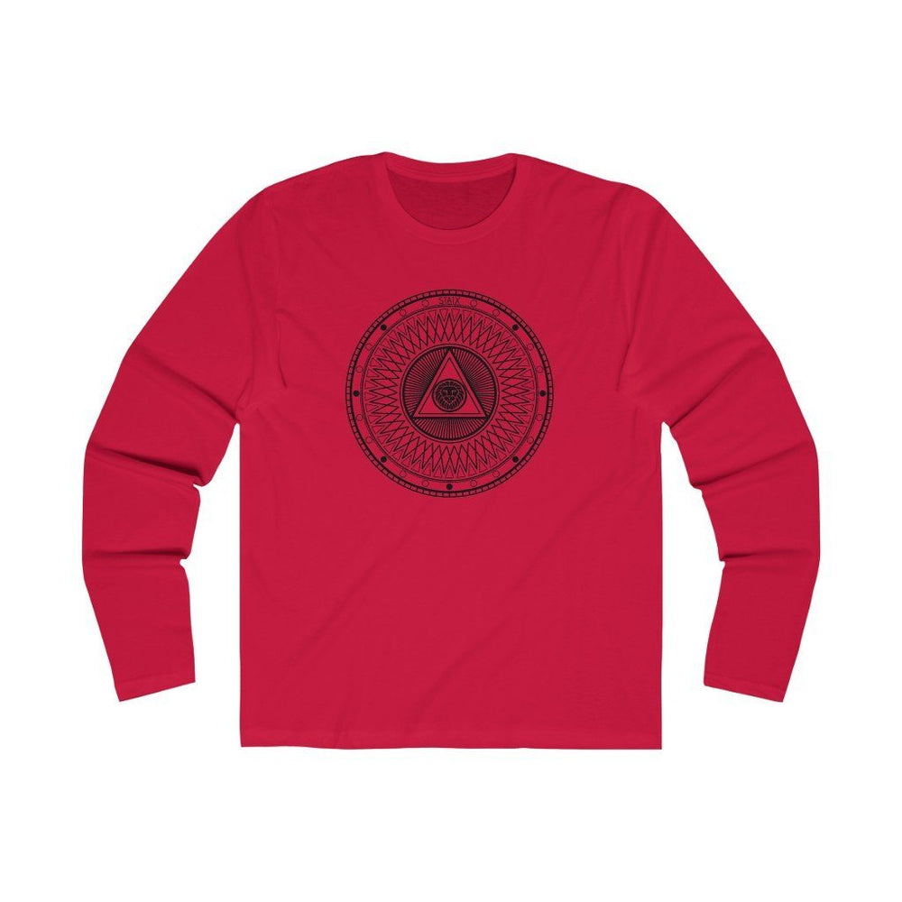 Men's Long Sleeve Crew Tee Long-sleeve Printify Solid Red S