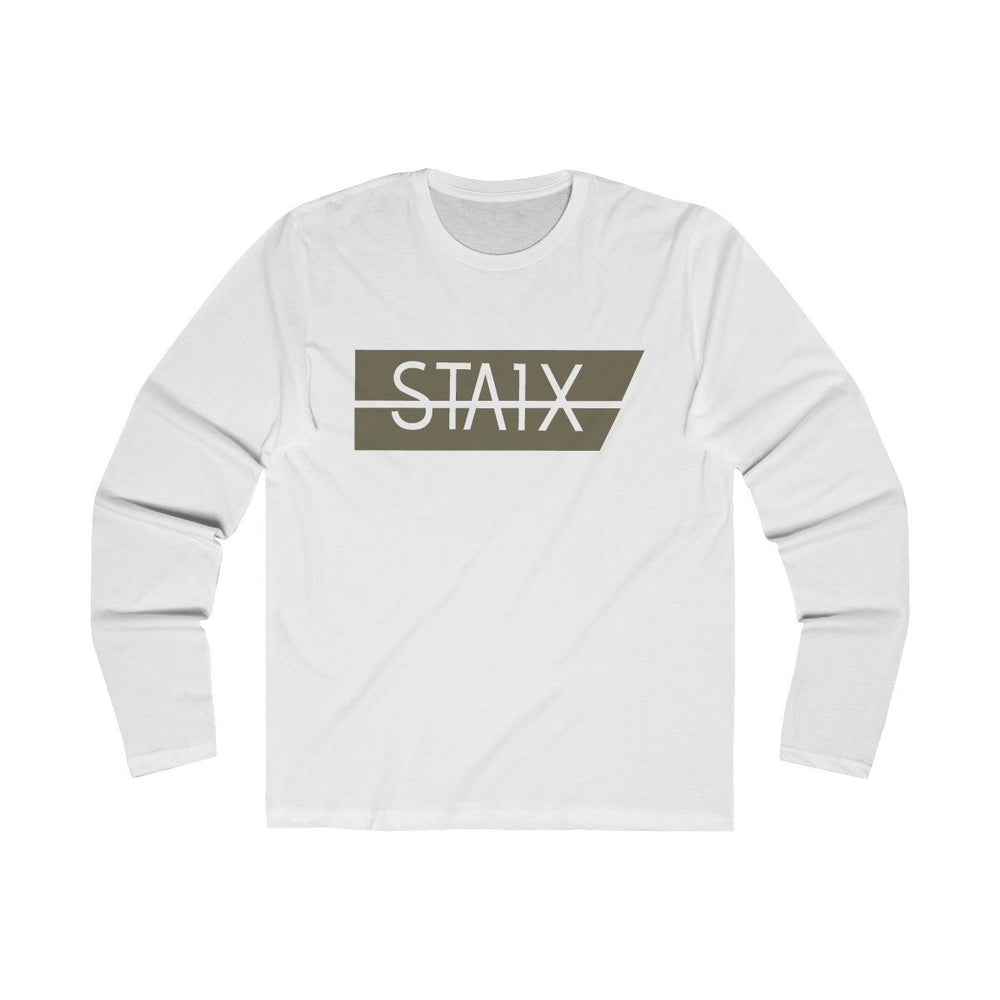 Men's Long Sleeve Crew Tee Long-sleeve Printify Solid White L