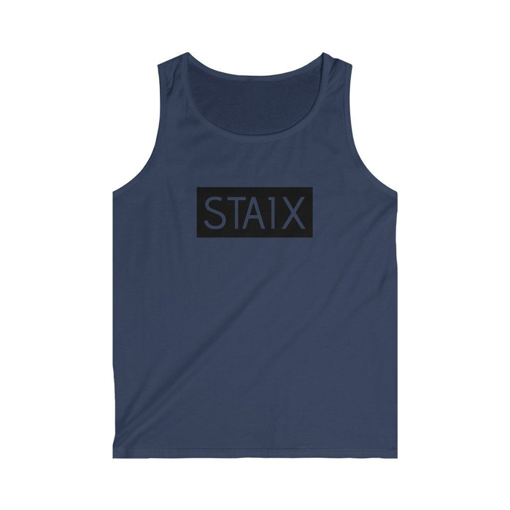 Men's Softstyle Tank Top Tank Top Printify Navy S