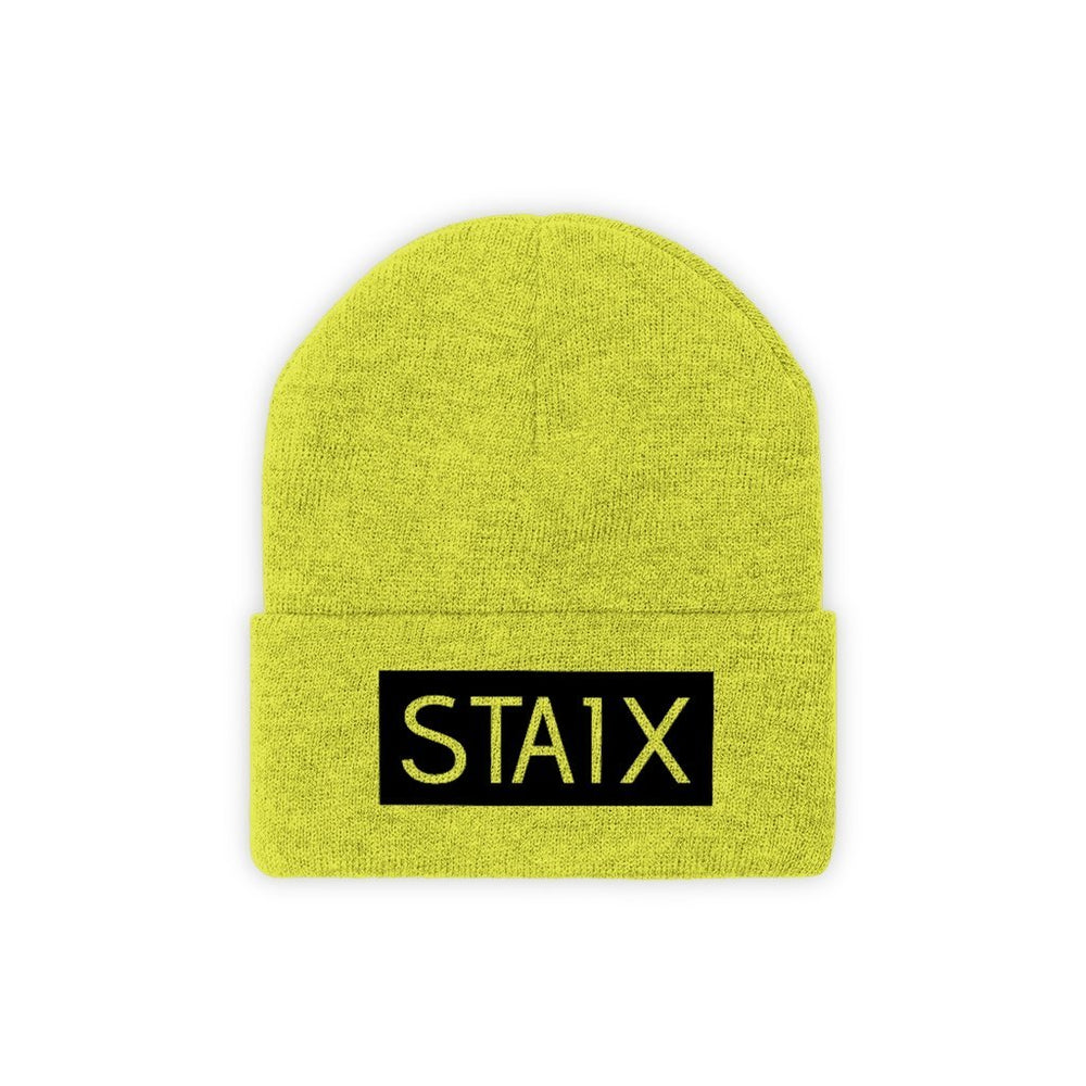 OG BOX LOGO Beanie Hats Printify Neon Yellow One size