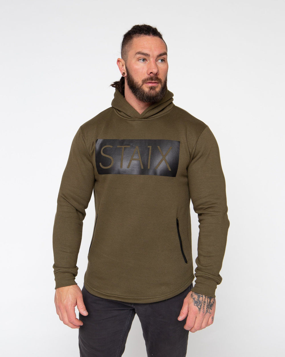 PROTEC HOODIE STAIX SMALL ARMY GREEN