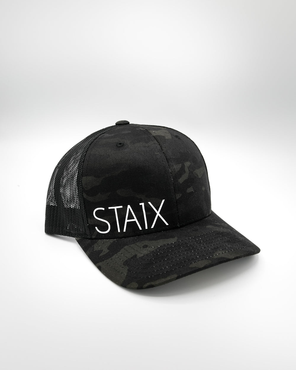 RUGGED CURVED SNAPBACK HEADWEAR STAIX DARK CAMO