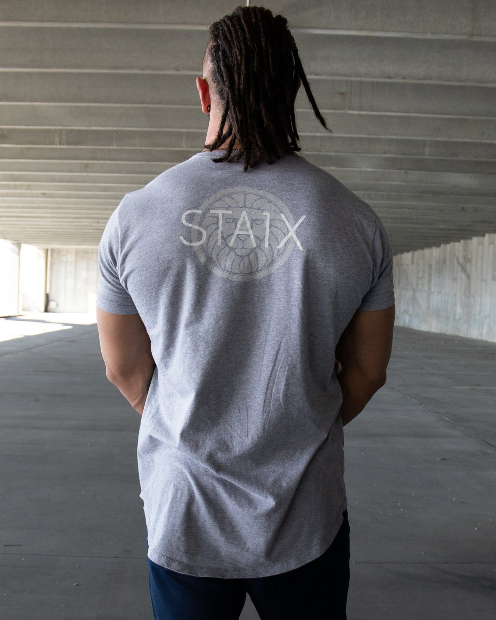 Scoop Flag Tee - Gray Men's STAIX Tee STAIX