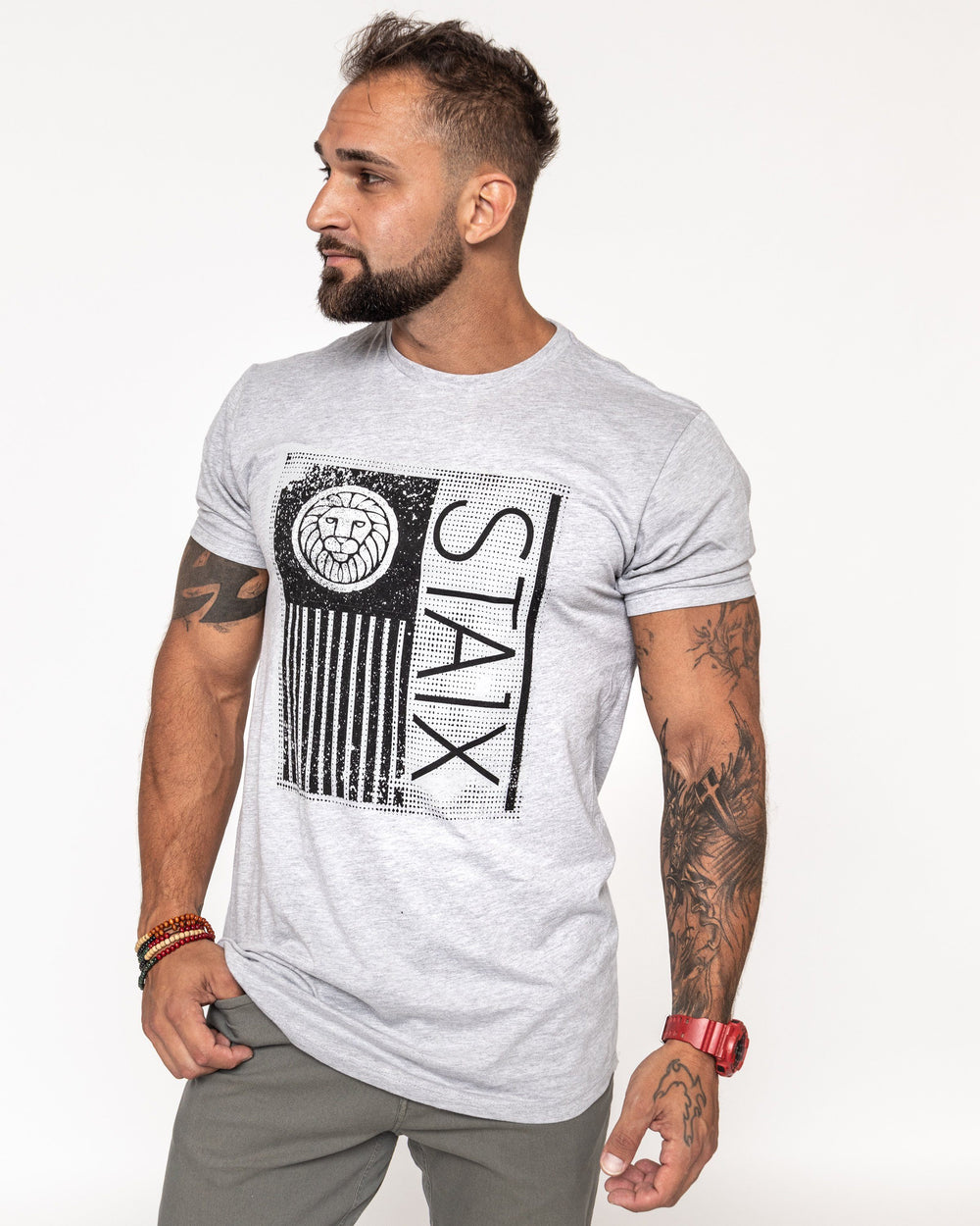 Scoop Flag Tee - Gray Men's STAIX Tee STAIX M