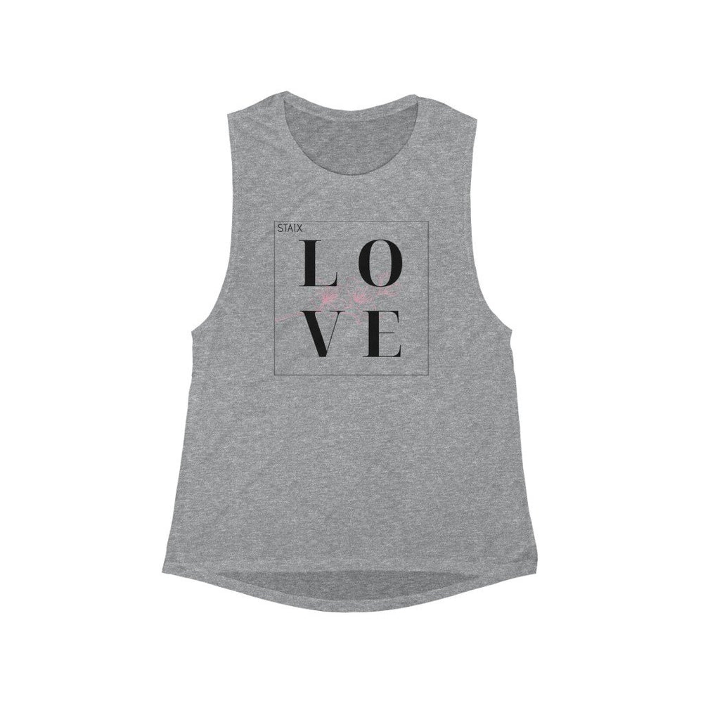 STAIX LOVE Flowy Scoop Muscle Tank Tank Top Printify Athletic Heather S