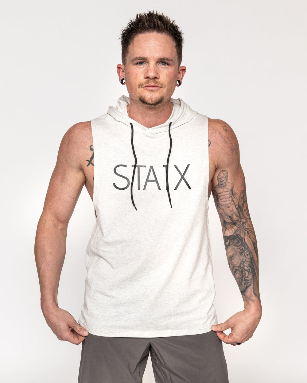 STEALTH HOODIE TANK STAIX S WHITE