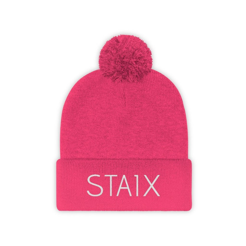 The Pom Beanie Hats Printify Neon Pink One size