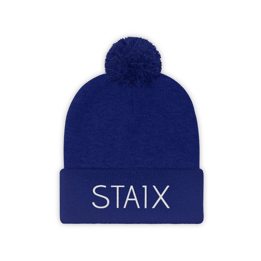 The Pom Beanie Hats Printify True Royal One size