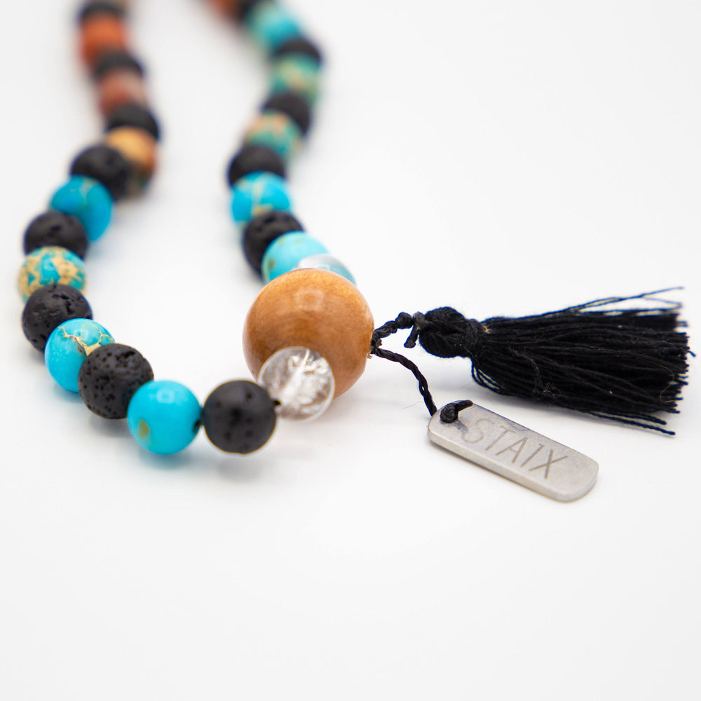 The Shaman Stone Necklace - FIRE and ICE STAIX